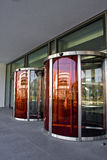 Revolving doors. Of a new building in erlangen, germany Royalty Free Stock Images