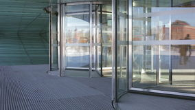 Revolving doors stock video footage