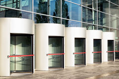 Revolving doors Stock Photo