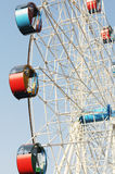 The revolving Ferris wheel Stock Images