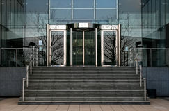 Revolving glass office doors Royalty Free Stock Images