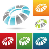 Revolving round abstract icons Royalty Free Stock Images