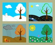 Revolving seasons Royalty Free Stock Photography