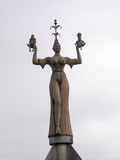 Revolving statue located at the entrance of the port of Konstanz Stock Photography