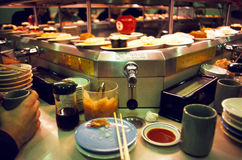 Revolving Sushi Bar in Tokyo Royalty Free Stock Images