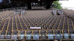 the revolving theater in Cesky Krumlov stock video