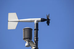 Revolving vane anemometer. A meteorological instrument used to measure the wind speed royalty free stock photo