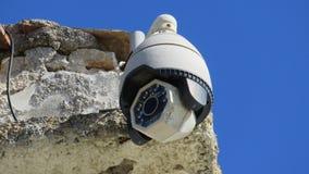 Revolving video surveillance system stock photo