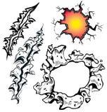 Revor och revor stock illustrationer