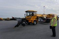 Revue annuelle annuelle d'équipement d'aéroport dans Pulkovo, St Petersburg, Russie Photos stock