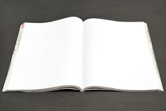 Revue blanc photographie stock libre de droits