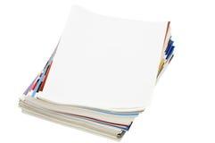 Revue d'isolement au-dessus du blanc Photographie stock libre de droits