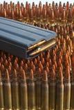 Revue sur des munitions Photographie stock libre de droits
