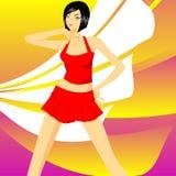 Revuegirl Lizenzfreies Stockfoto