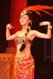 Revuegirl in China Lizenzfreies Stockbild