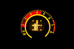 Revving engine tachometer Stock Images