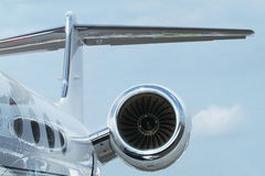 Rewar detail of business jet Royalty Free Stock Image