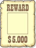Reward 5000 dollars Royalty Free Stock Image