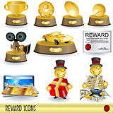 Reward icons Royalty Free Stock Photography