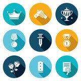 Reward Icons Set. Vector Illustration Stock Photos