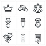 Reward icons. Vector Illustration. Royalty Free Stock Images