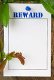 Reward Notice Royalty Free Stock Image