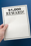Reward poster Royalty Free Stock Image