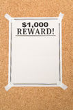 Reward poster Stock Photos