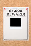 Reward poster Stock Photo