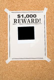 Reward poster Royalty Free Stock Photography