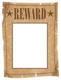 Reward Poster. A grunge wanted reward poster with space for a persons head Stock Images