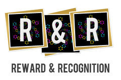Reward And Recognition Neon Squares Stock Photography