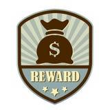 Reward retro shield label Stock Image