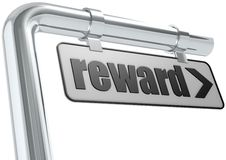 Reward street sign Stock Photos