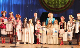 Rewarding the artists children Royalty Free Stock Image