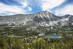 Rewarding views of Little valley lakes Stock Photo
