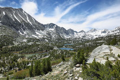 Rewarding views of Little valley lakes Royalty Free Stock Photo
