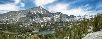 Rewarding views of Little valley lakes Royalty Free Stock Photos