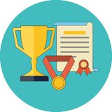 Rewards, achievements, awards concept. Flat design. royalty free illustration