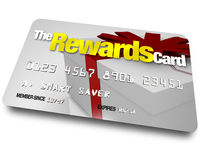The Rewards Credit Card Earn Refunds and Rebates Royalty Free Stock Image