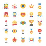 Rewards and Medals Flat Icons Set royalty free illustration