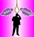 Rewards and risks for a businessman Stock Photography