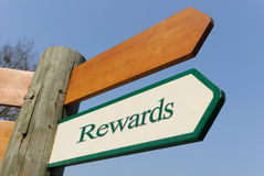 Rewards signpost royalty free stock image