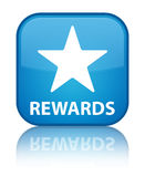 Rewards (star icon) special cyan blue square button Royalty Free Stock Image