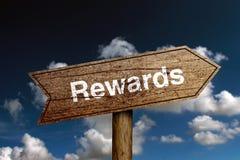 Rewards Text Stock Image