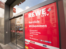 Rewe City entrance Stock Photography