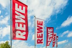 REWE-flaggor royaltyfria foton