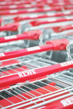 Rewe shopping carts Royalty Free Stock Photography