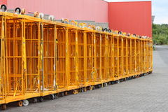 Rewe storage carts Royalty Free Stock Photos