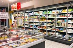 REWE supermarket interior Royalty Free Stock Image